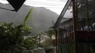 台風15号 すごい暴風!!大分県西部