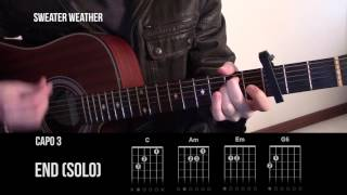 Sweater Weather - The Neighbourhood - Guitar Lesson Tab - How To Play