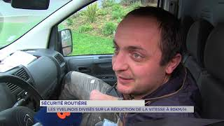 Sécurité routière : les yvelinois divisés sur la réduction de la vitesse à 80km/h