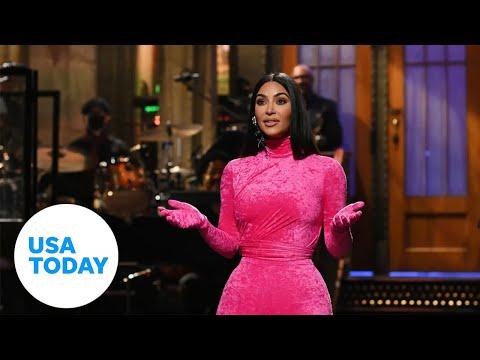 Kim Kardashian West takes jabs at family and Kanye West on SNL | USA TODAY