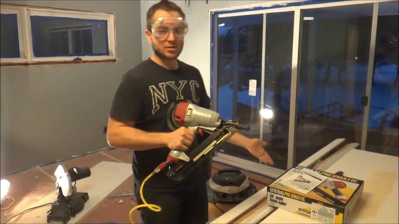 Depth Adjustment & Review of Harbor Freight 34° Angle Finish Nailer ...