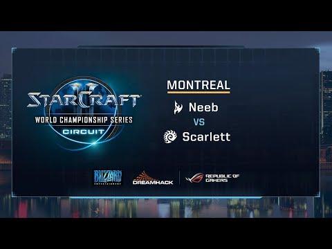 Neeb vs Scarlett PvZ - Quarterfinals - WCS Montreal 2017 - StarCraft II