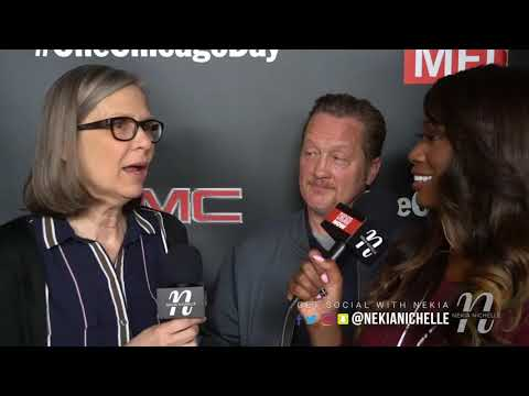 Amy Morton & Christian Stolte Talk TV  & Halloween Characters On ChicagoDay Red Carpet
