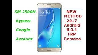 How To Samsung SM-J500H  Verify Your Google Account FRP Bypass Latest 6.0.1 Remove 100% Work Done.