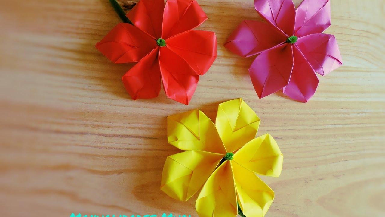 Flores de papel diy d a de la mujer d a de la madre - Como se hacen rosas de papel ...