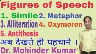 Figures of Speech | Simile | Metaphor | Alliteration | Oxymoron | Antithesis | ctms |
