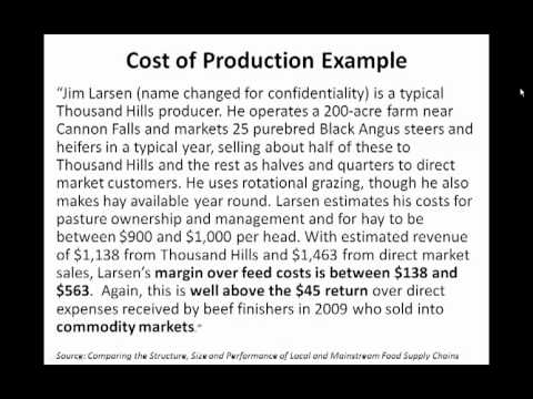 The Economics of Regional Meat - program only