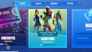 "HOW TO GET ""FREE OVERTIME ITEMS"" IN FORTNITE! NEW SEASON 9 OVERTIME CHALLENGES/ REWARDS (FREE ITEMS)"