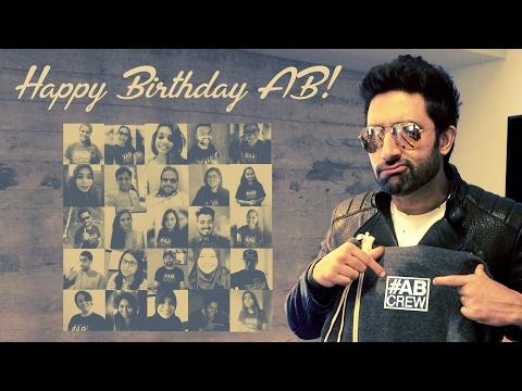 Surprise Birthday Abhishek Bachchan from #ABCrew
