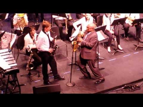 Liam Locke & Ron Carter Sax Off at Aspen High School Spring Concert April 30, 2014
