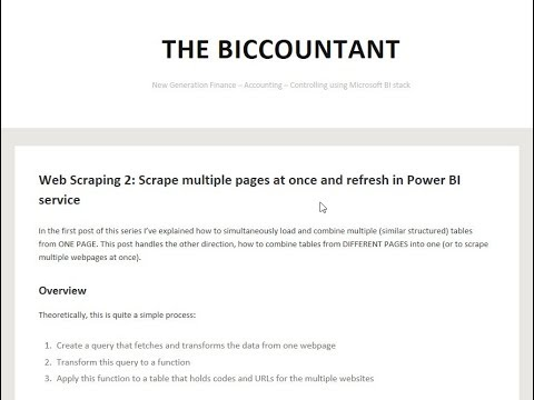Web Scraping 2: Scrape multiple pages at once and refresh in