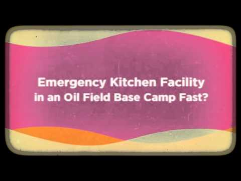 Oil Field Base Camp Mobile Kitchen Facility for Leasing
