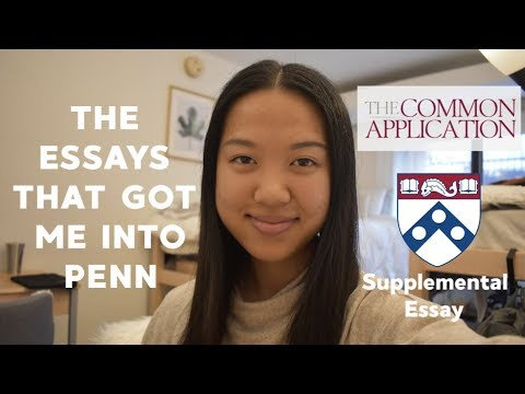 READING THE ESSAYS THAT GOT ME INTO PENN // Common App And Supplemental Essays