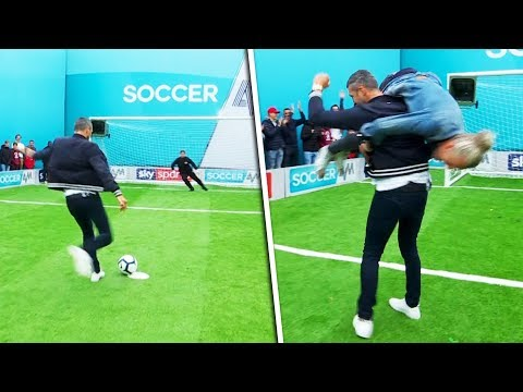 Ian Holloway v Carl Froch | Penalties, volleys, free kicks & crossbar challenge | Soccer AM Pro Am