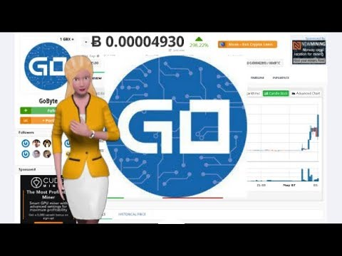 Cryptocurrency GoByte $GBX Gained 298% In The Past Day
