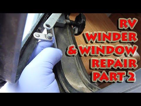 Part 2: Replacing A Broken Window Winder Crank Torque Operator In A Full Timer's Campervan RV