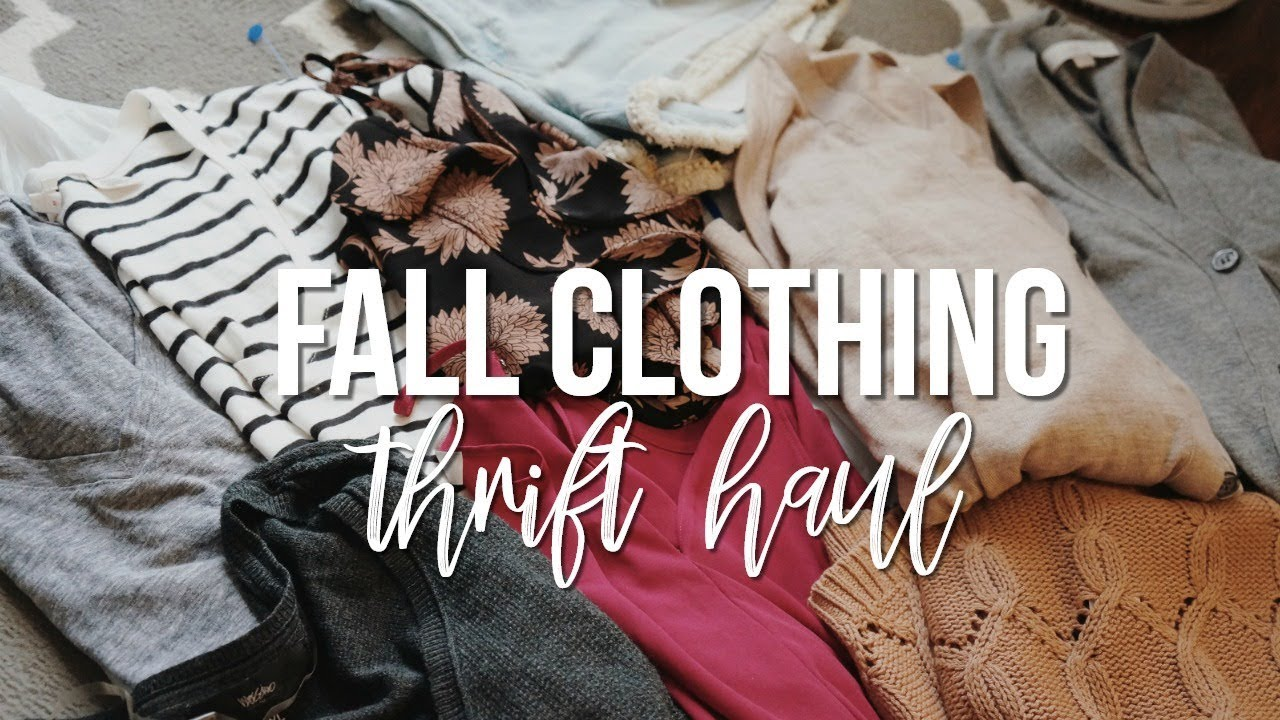 38e92883fc3 FALL CLOTHING Thrift Haul