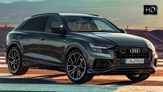 2019 Audi Q8 Quattro SUV Daytona Grey Exterior Interior Design & Driving Footage HD