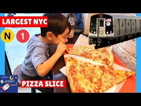 Johny's MTA subway Train Ride to Largest NYC Pizza Slice N subway train ride
