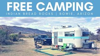 Free Camping at Indian Bread Rocks in Bowie, AZ 💯🌄😀 RV Living & Van Boondocking | Arizona Camping