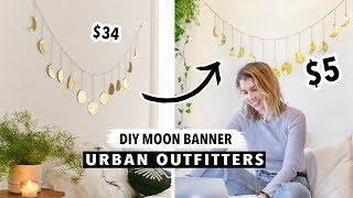 Diy $5 Moon Phase Wall Hanging! Urban Outfitters Inspired Stylish Wall Decor