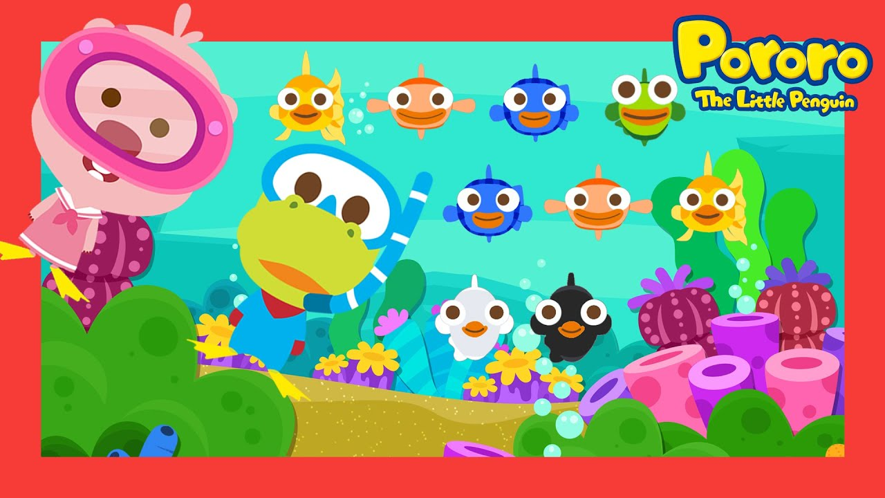 Sea Animal Song Series | Colorful fish |  | Song for Kids | Nursery rhymes