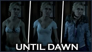UNTIL DAWN - How To Undress Jessica and All Clothes Jessica
