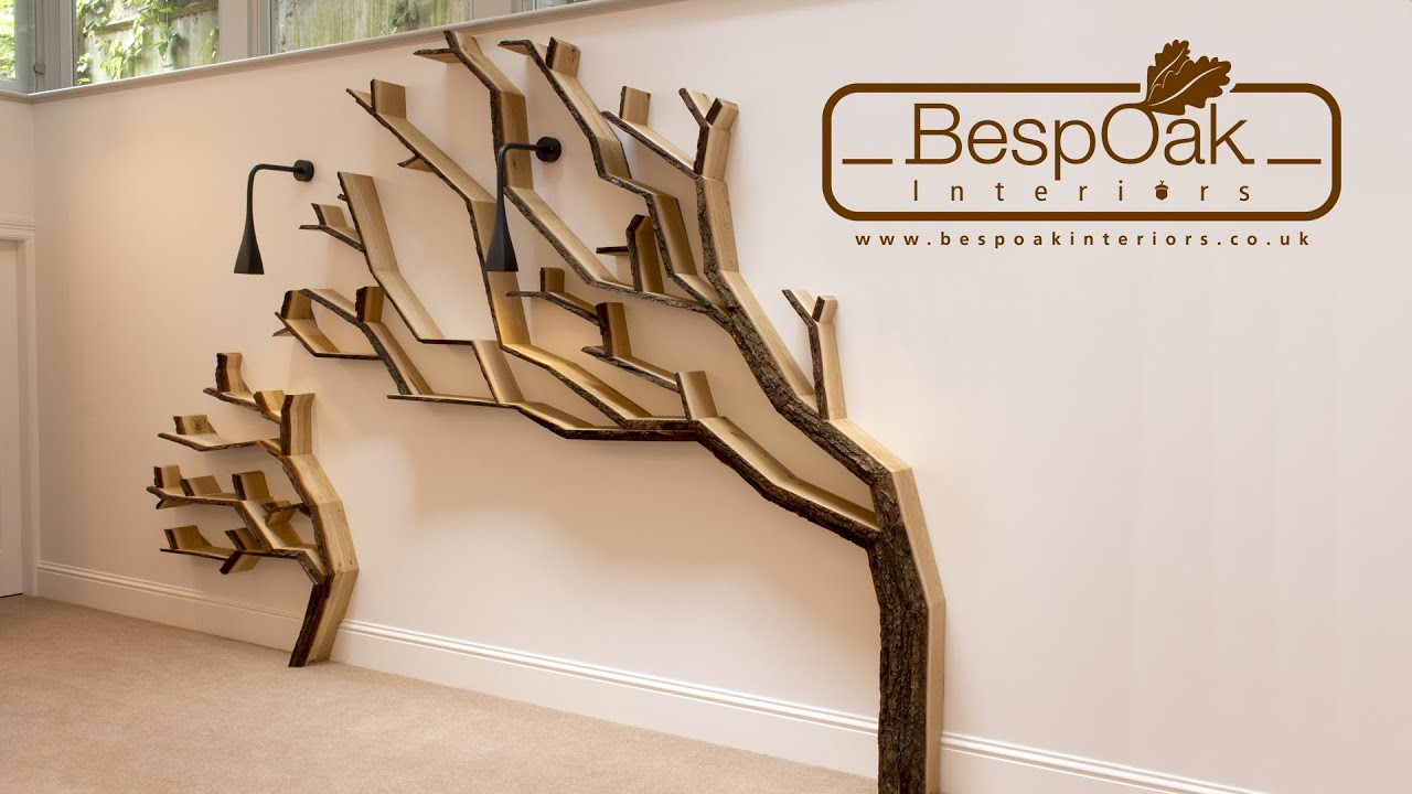 building a tree bookshelf wall feature by bespoak interiors  youtube -