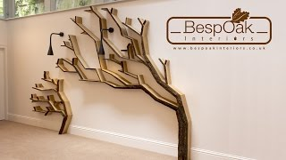A time-lapse video of the build and installation of our latest tree shelf wall feature design. This installation consists of two tree