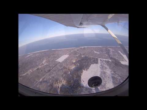 Flight from KSUW to South Shore and Apostle Island in Jan 2017