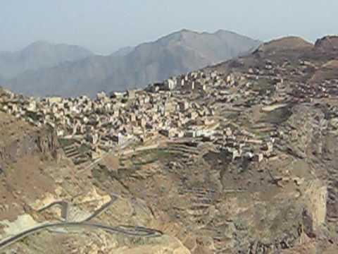 Overview of Manakha, Yemen