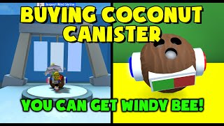 Buying Coconut Canister! Its BIG! Test Realm - Bee Swarm Simulator