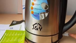 ấm siêu tốc đúc nguyên khối inox 304 JYEK18001S