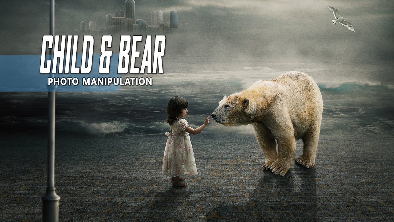 Background Wallpaper Baby Girl Child Amp White Bear Photoshop Manipulation Tutorial