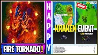 """*NEW* Fortnite: LEAKED """"CRAKEN"""" Fire Tornado! *SOUND FX* (Tilted Destroyed, Map Crack Gameplay!)"""
