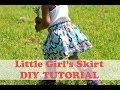 How To Make A Simple Girl's Skirt- Beginner Sewing video