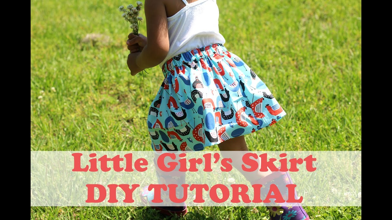 4170fc5ae706aa How to Make a Simple Girl s Skirt- Beginner Sewing - YouTube