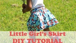 How Make Simple Girls Skirt