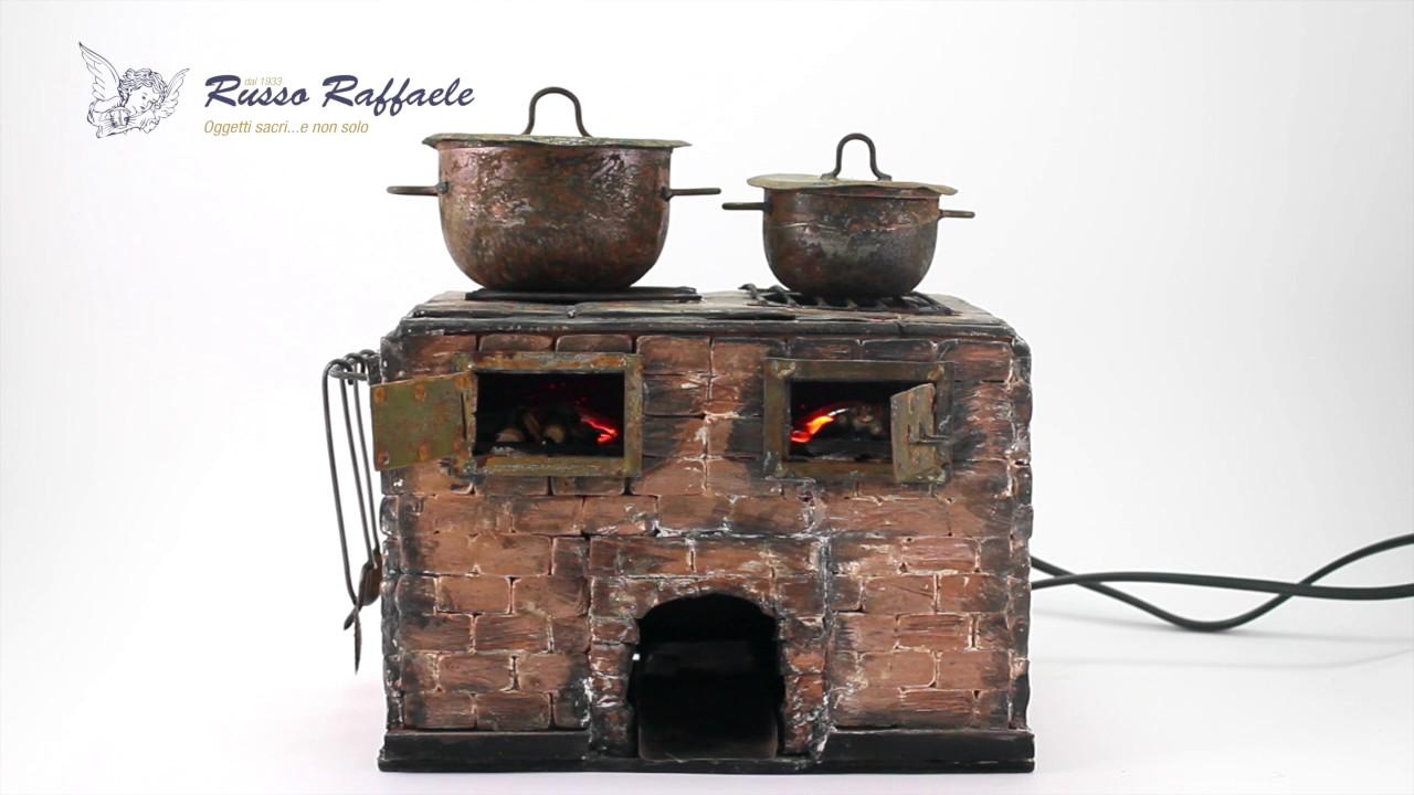 20500301 - Cucina forno artigianale per presepe 22x21x15 cm