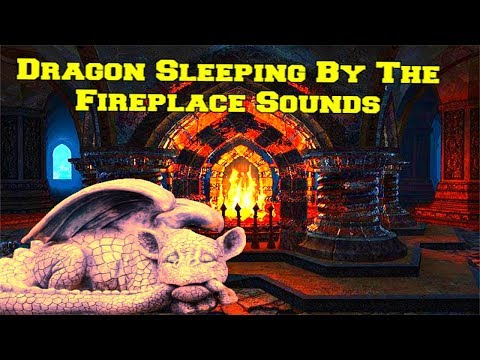 Dragon Sleeping By The Fireplace Ambience