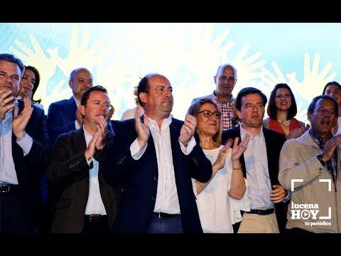 VÍDEO: Presentación oficial de la candidatura del PP de Lucena a las elecciones municipales