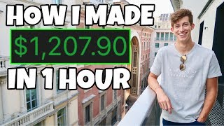 HOW I MADE $1,207 PROFIT EXACTLY IN 1 HOUR DAY TRADING