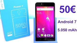 SMARTPHONE A MENO DI 50€ CON ANDROID 7 E BATTERIA DA 5.050mAh - M-NET POWER 1 RECENSIONE- ENG SUB
