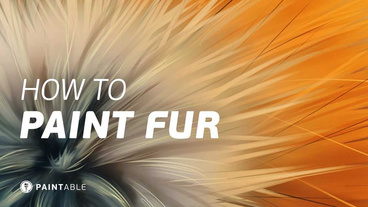 How to Paint Realistic FUR Textures Digital Painting Walkthrough