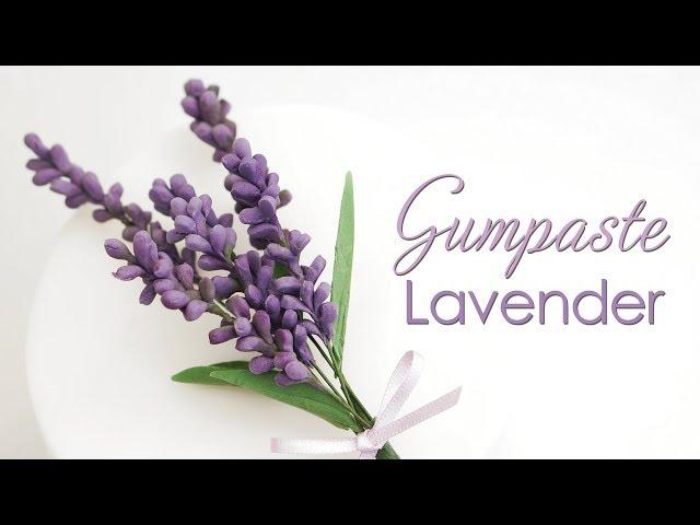 How to make Gumpaste Lavender Flowers - Tutorial