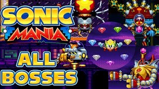 Sonic Mania - All Bosses as Super Sonic/Tails/Knuckles