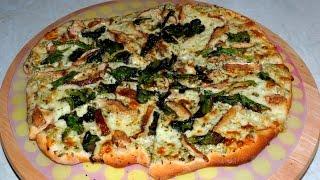 """Pizza White, Mozzarella, Shiitake, Spinach. Recipe """"hd"""""""