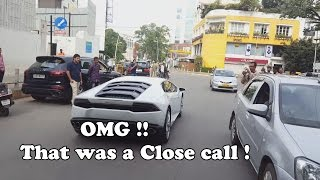 OMG !! Very close call for this Lamborghini !! #65