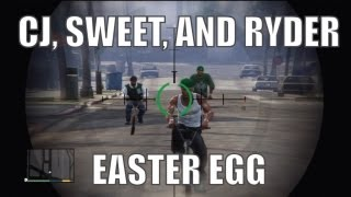 GTA 5 (CJ EASTER EGG) - How to find and kill CJ, Sweet, and Ryder!