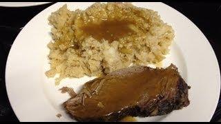 Medifast Lean & Green Pot Roast, Mashed Cauliflower, And Gravy